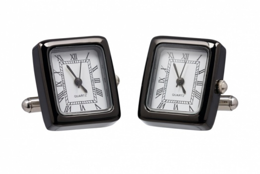 Black Working Watch Cufflinks